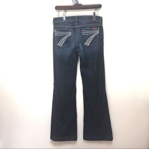 7 for All Mankind Dojo Flare Jeans Dark Wash sz 25